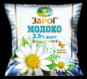 "Молоко ""ЗароГ"" 2,5% жиру 500 г"